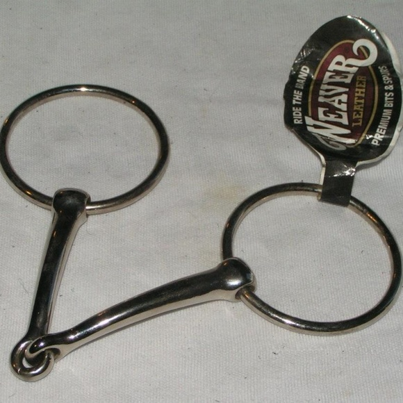"New Draft horse 6/"" O ring snaffle Bit 3/"" rings"